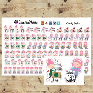 Daily Activities Planner Stickers/Candy Dolls