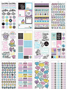 Color Magic Planner Sticker Book (18 pages, 1,769 pcs) - American Crafts