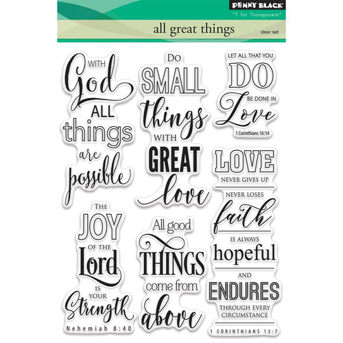 All Great Things Clear Stamps - Penny Black