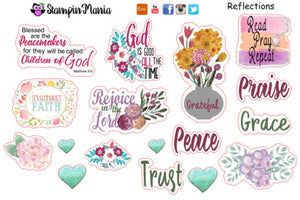 Bible Journaling and Inspirational Stickers - Reflections