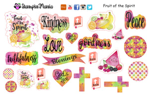 Fruit of the Spirit Bible Journaling and Inspirational Stickers