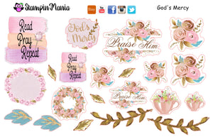God's Mercy Bible Journaling and Inspirational Stickers