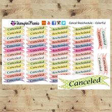 Load image into Gallery viewer, Canceled & Rescheduled Planner Stickers - Colorful