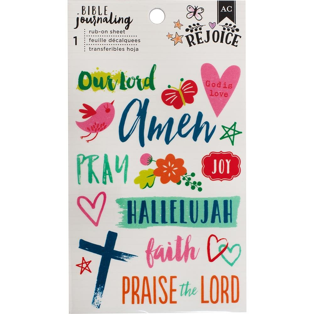 Halleluhah Rub-On sheet - American Craft