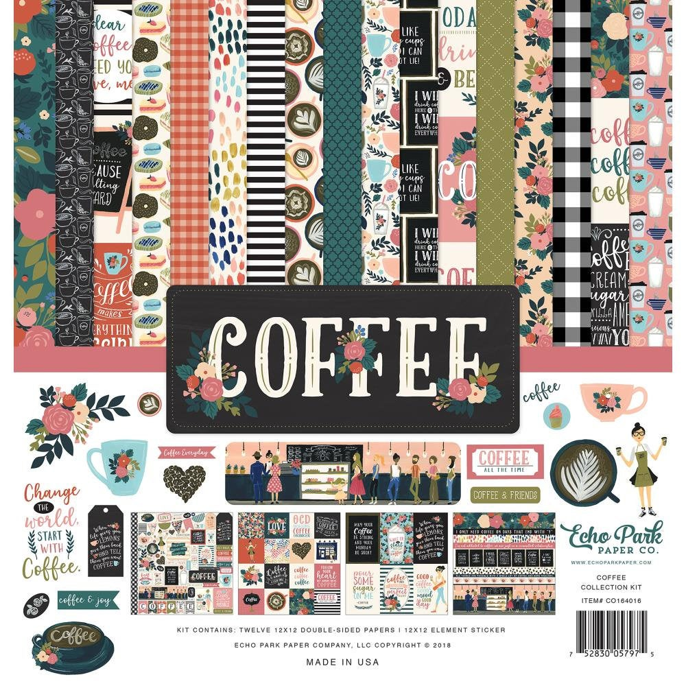Coffee 12x12 Collection Kit - Echo Park