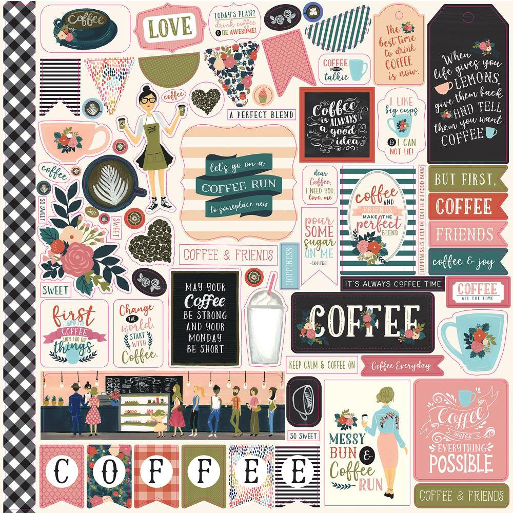 Coffee 12x12 Cardstock Sticker Sheet - Echo Park