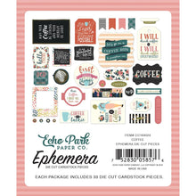 Load image into Gallery viewer, Coffee Ephemera Die cuts 33/pkg - Echo Park