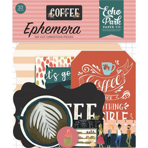 Coffee Ephemera Die cuts 33/pkg - Echo Park