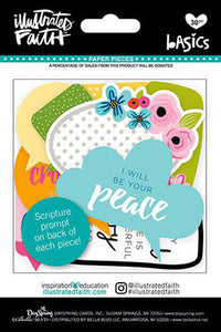 Paper Pieces, Die-cuts Messages from God 30/pkg - Illustrated Faith