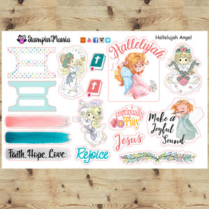 Hallelujah Angels; Bible Journaling and Inspirational Stickers