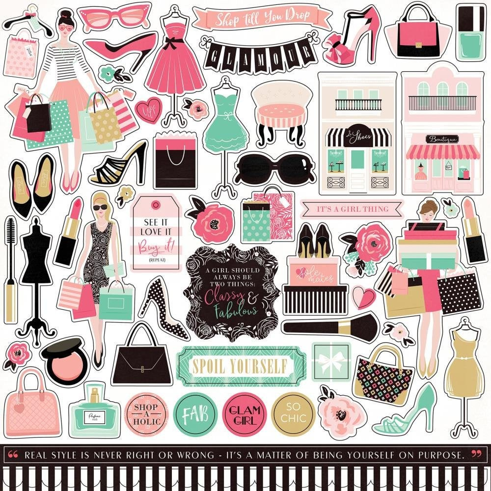 Fashionista 12x12 Cardstock Sticker Sheet - Echo Park