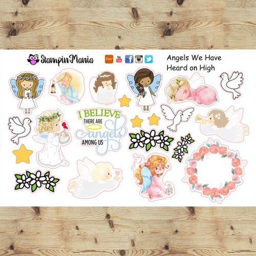 Angels We Have Heard on High, Bible Journaling and Inspirational Stickers