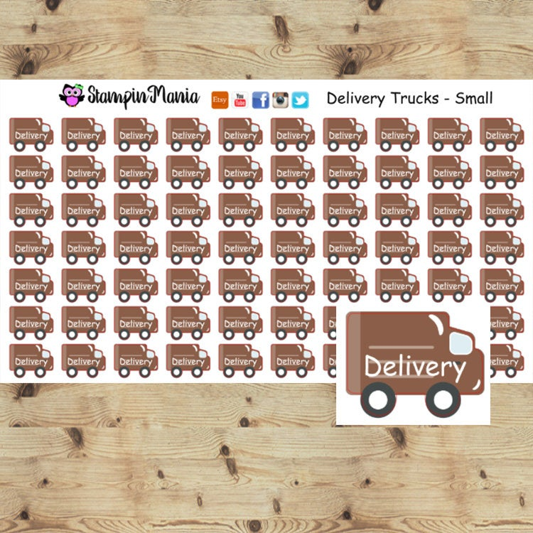Delivery Trucks _Small Planner Stickers/EC/HP