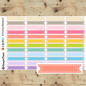 Stitched Banners Planner Stickers
