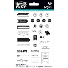 Load image into Gallery viewer, Faith Planner Basics Clear Stamps - Illustrated Faith