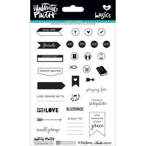 Faith Planner Basics Clear Stamps - Illustrated Faith