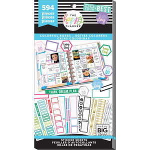 Colorful Boxes Sticker Book (594 pcs) - Happy Planner