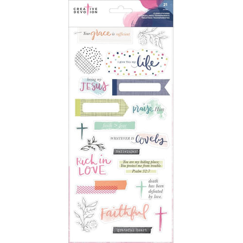 21 Inspirational Stickers - Creative Devotion