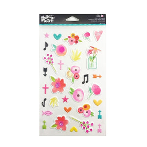 She Blooms - Puffy Stickers 32 pcs - Illustrated Faith