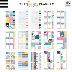 Pastel Tropics Sticker Book (560 pcs) - Happy Planner