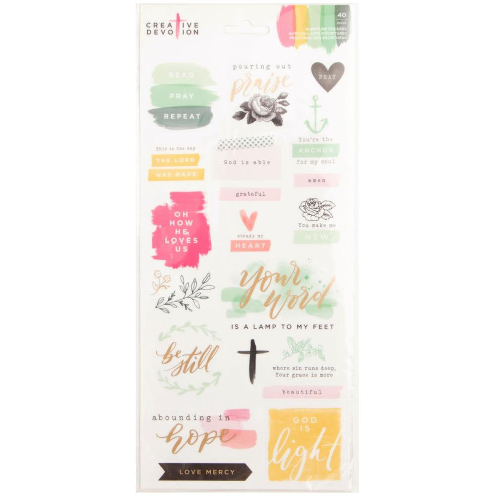 40 Inspirational Stickers - Creative Devotion