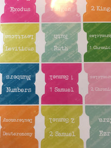 Bible Chapter Sticker Tabs, 74 pcs - Creative Devotion