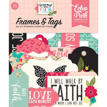 Load image into Gallery viewer, Forward with Faith, Die cut Frames & Tags  33pcs - Echo Park