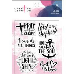 God is Love Acrylic Stamp Set (6 pcs) - Creative Devotion