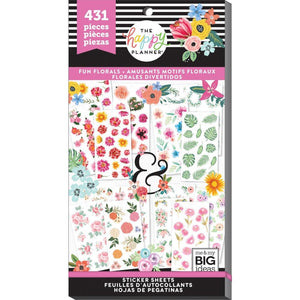 Romantic Fun Florals Sticker Book (431 pcs) - Happy Planner