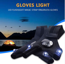 Load image into Gallery viewer, Fingerless Glove LED Flashlight for Outdoors/Electrical Repair Work Buy 1 Take 1