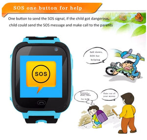 V6 Kids Smart Watch with GPS Tracker, Call & Text Feature