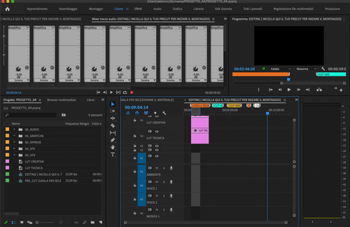 PROGETTO PREMIERE PRO PRONTO ALL'USO #01