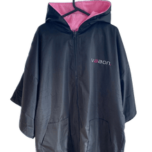 Load image into Gallery viewer, adult outdoor changing poncho pink colour front
