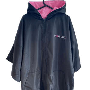 adult outdoor changing poncho pink colour front