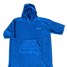 Load image into Gallery viewer, childrens towel poncho blue