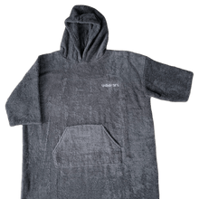 Load image into Gallery viewer, childrens grey towel poncho