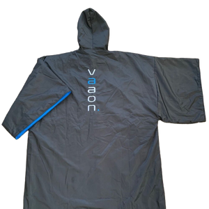 element outdoor poncho in blue back view
