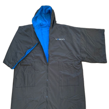 Load image into Gallery viewer, element outdoor poncho in blue front view