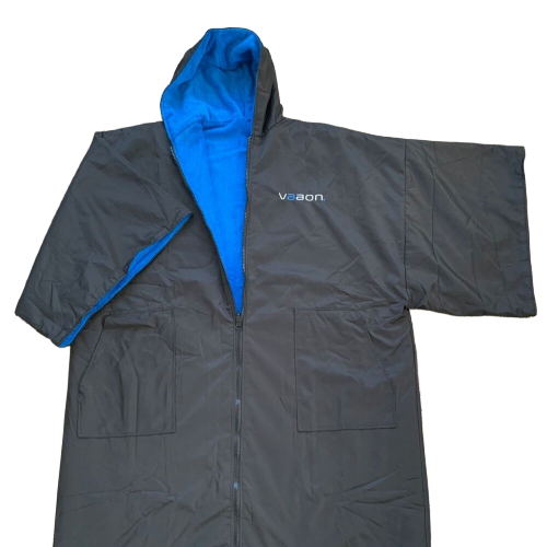 element outdoor poncho in blue front view