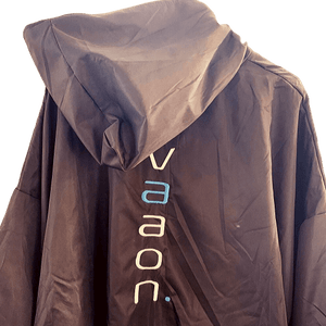 element outdoor changing poncho in grey back view