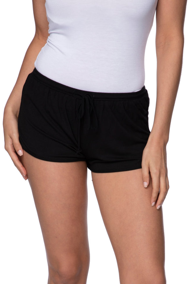 Stretch Knit Lounge Short with Mesh Trim - Subtle Luxury