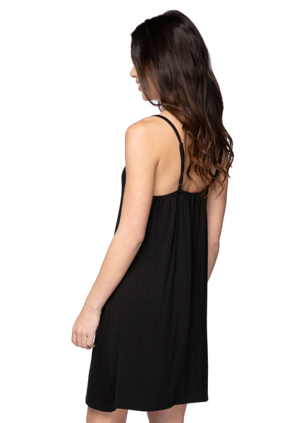 V-Neck Slip in Black
