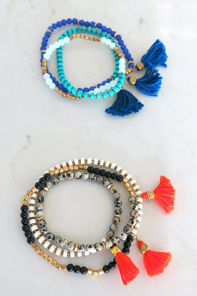 Triple Tassel Wrap Bracelet / Necklace