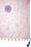 Flower Stitches Embroidery Sarong/Scarf Wrap