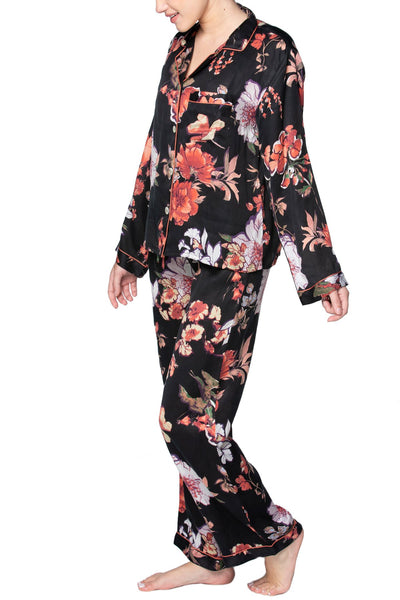 Blushing Floral Print | Lounge Sets in Black | Loungerie