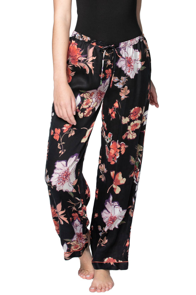 Blushing in Florals PJ Pant in Black - Subtle Luxury