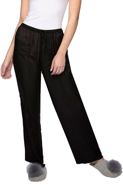 Satin Lounge Pant in Black | Loungerie by Subtle Luxury