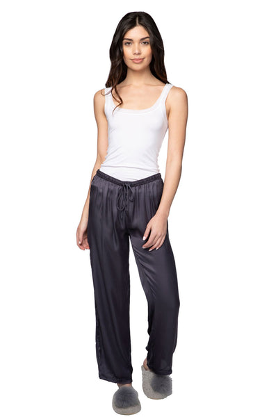 Charlotte Satin PJ Pant in Navy