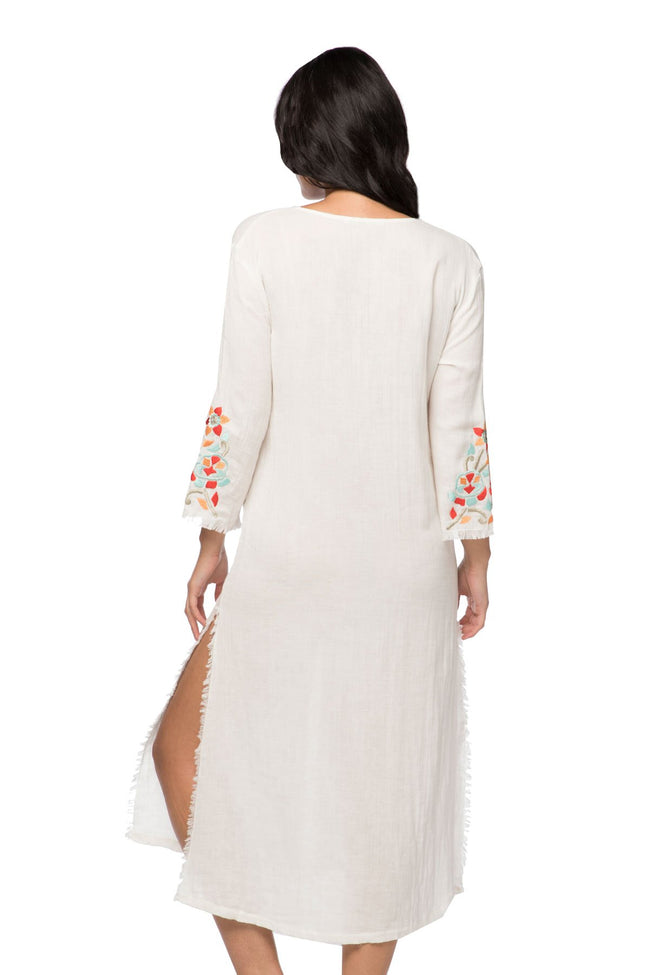 Catalana Maxi Dress in White - Subtle Luxury