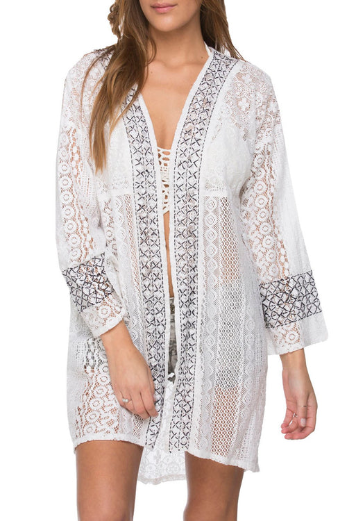 Coastal Lace Kimono in Solid colors